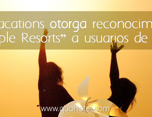 "Apple Vacations otorga reconocimiento ""Golden Apple Resorts"" a usuarios de QuoHotel"